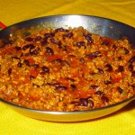 A large pot of chili con carne ?
