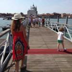 Crossing the temporary bridge built for the Festa del Redentore ?
