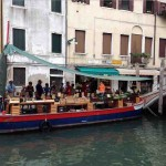 The Vegetable boat at Campo San Barnaba, Venice ?