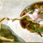 Michelangelo's Creation of Adam on the ceiling of the Sistine Chapel ?