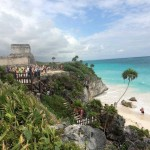 Seaside view of El Castillo at Tulum ?