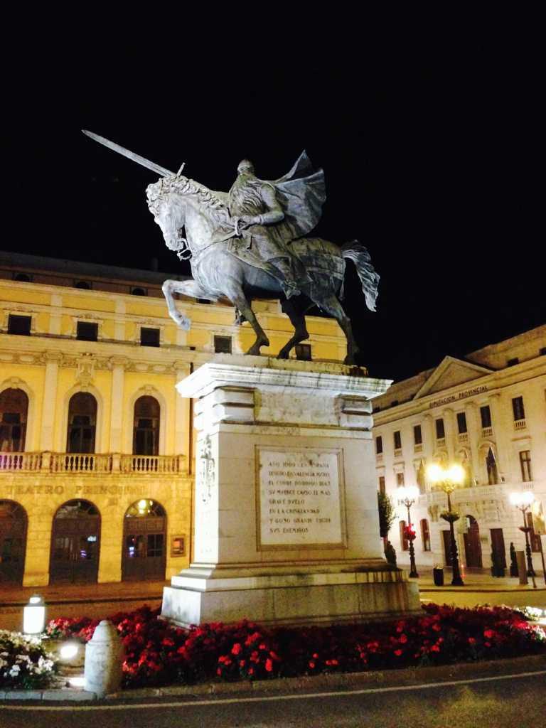 Statue of El Cid Campeador in Burgos