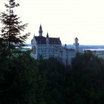Neuschwanstein Castle from Mary's Bridge by the end of the day ?